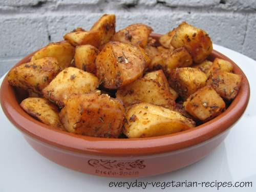 Roasted Russet Potatoes  roasted russet potatoes and onions
