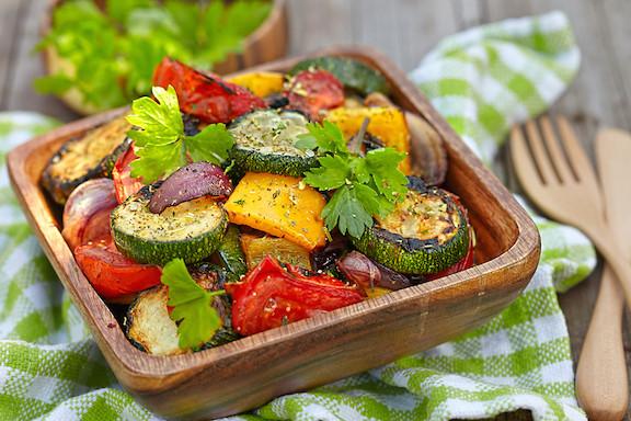 Roasted Summer Vegetables  Roasted Summer Ve able Salad
