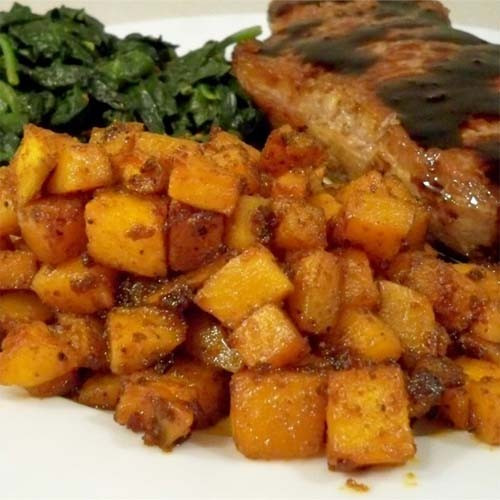 Roasted Sweet Potato Chunks  Roasted Sweet Yet Spicy Sweet Potato Chunks Page 2 of 2
