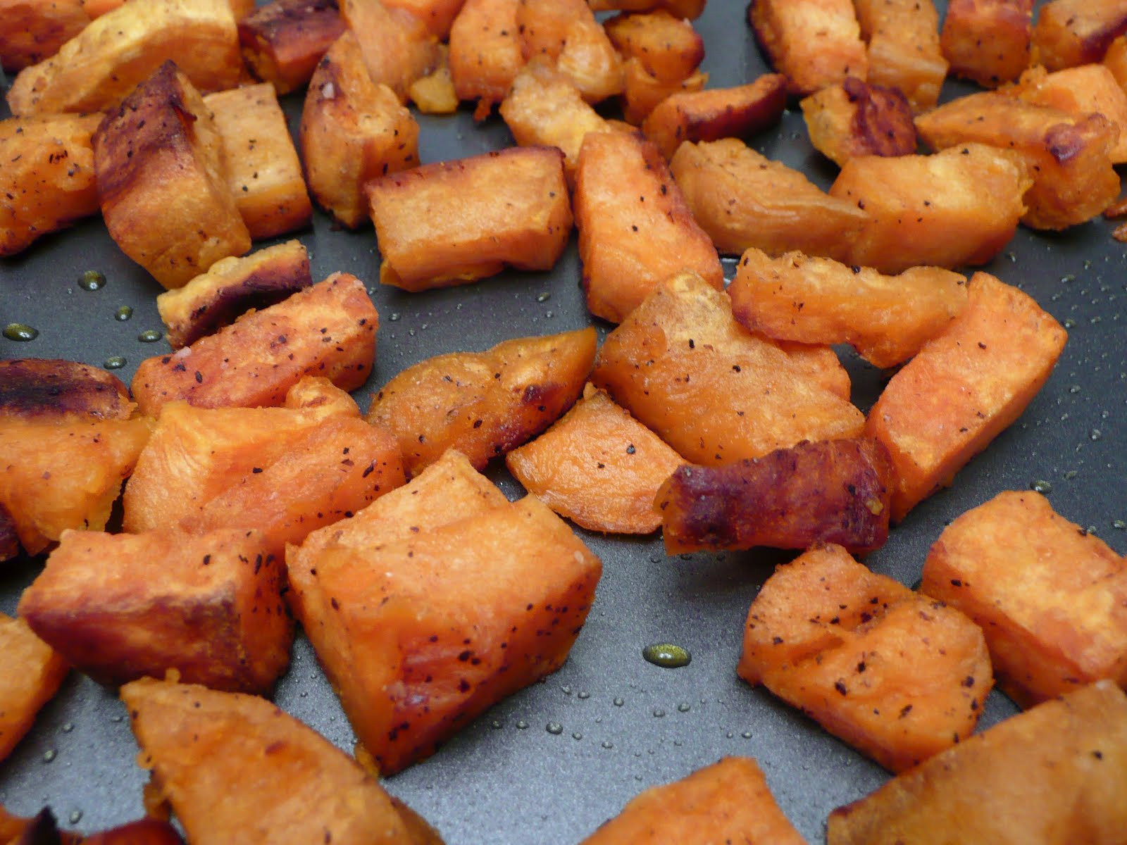 Roasted Sweet Potato Chunks  Legal Tines Sweet Potato Chunks