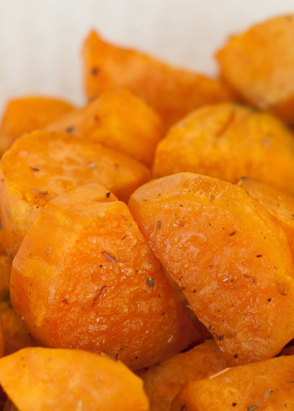 Roasted Sweet Potato Chunks  Baked Sweet Potato Chunks with Oregano