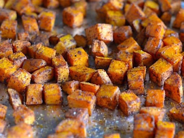 Roasted Sweet Potato Recipe  Chili Roasted Sweet Potatoes Bud Bytes
