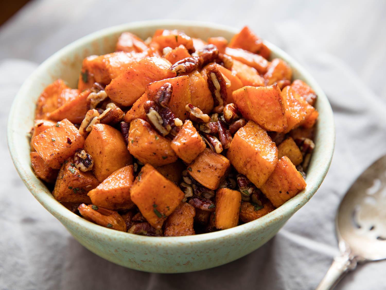Roasted Sweet Potato Recipe  Smoky Spiced Pecan Roasted Sweet Potatoes Recipe