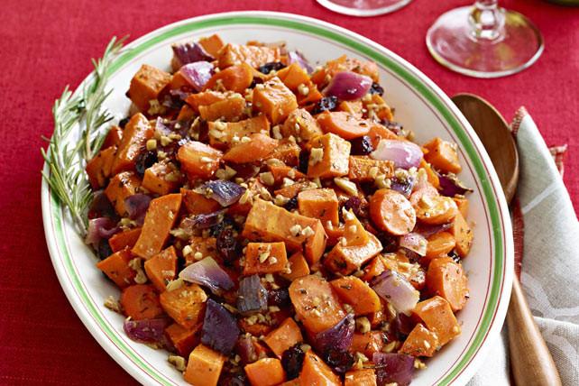 Roasted Sweet Potato Recipe  Maple Roasted Sweet Potatoes & Carrots Kraft Recipes