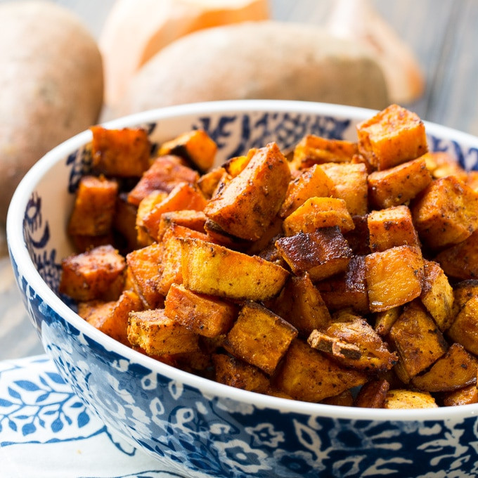 Roasted Sweet Potato Recipe  Spicy Sweet Roasted Sweet Potatoes Spicy Southern Kitchen