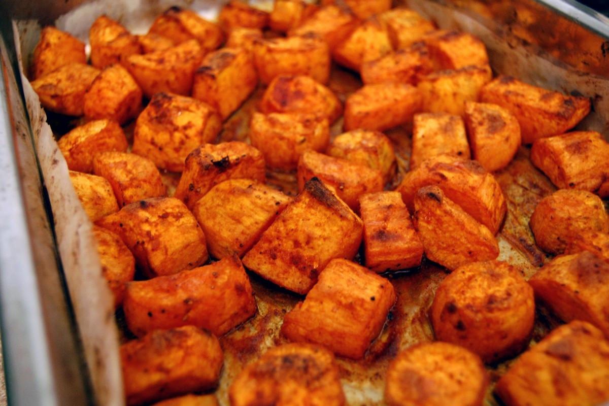Roasted Sweet Potato Recipe  12 Skinny Christmas Dinner Dishes