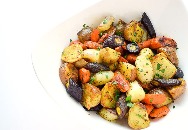Roasted Sweet Potatoes And Carrots  Herb Roasted Potatoes & Carrots