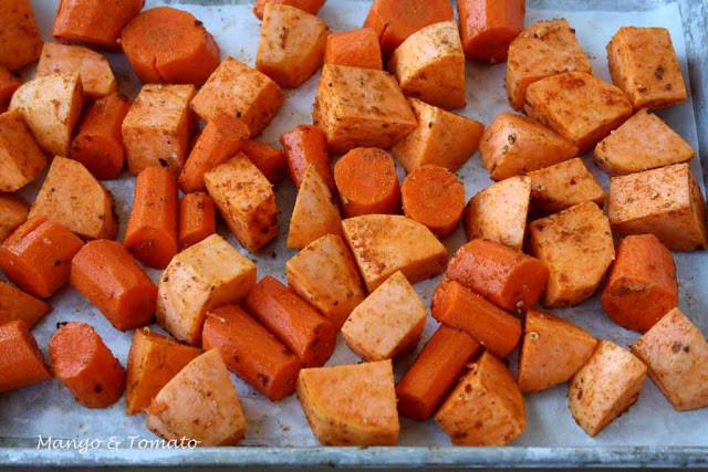 Roasted Sweet Potatoes And Carrots  Mango & Tomato Roasted sweet potato & carrot soup with