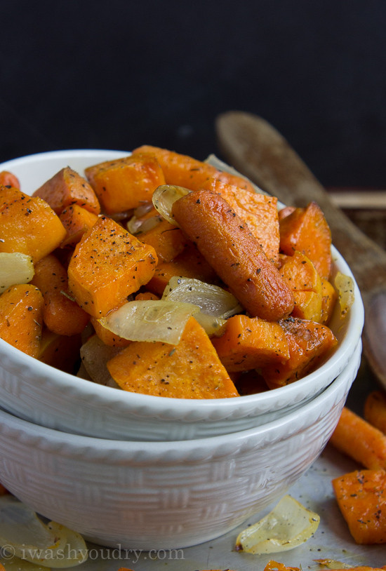 Roasted Sweet Potatoes And Carrots  Simple and Savory Roasted Sweet Potatoes and Carrots