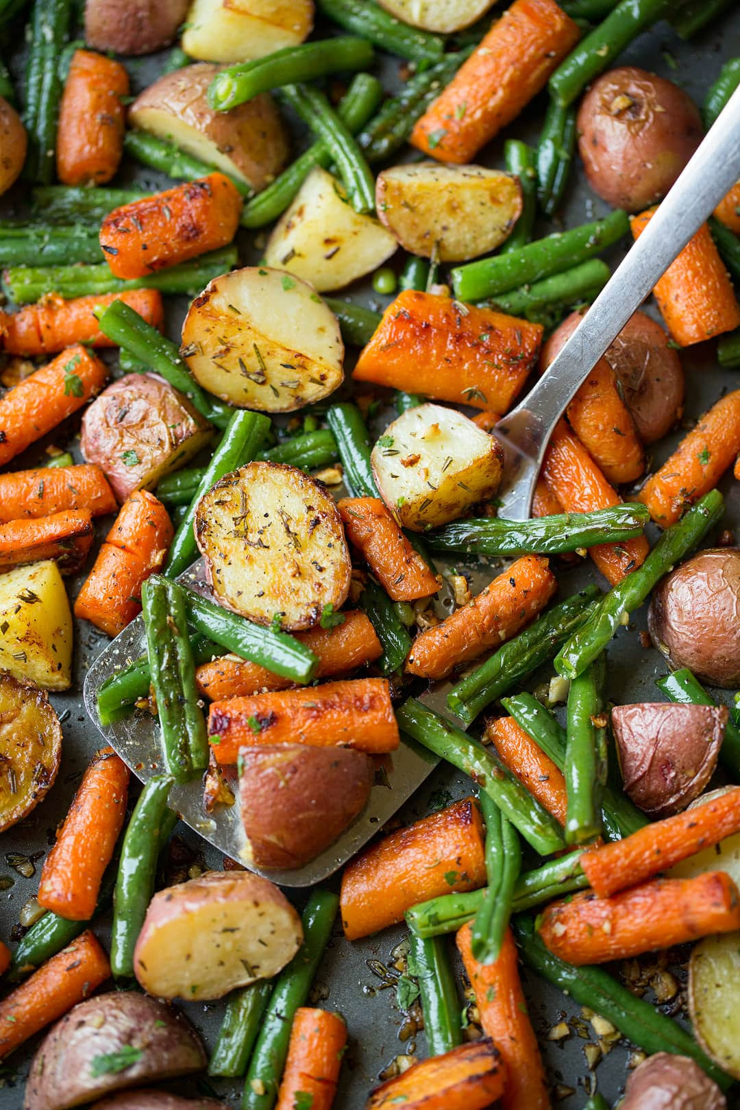 Roasted Sweet Potatoes And Carrots  Roasted Ve ables with Garlic and Herbs Cooking Classy