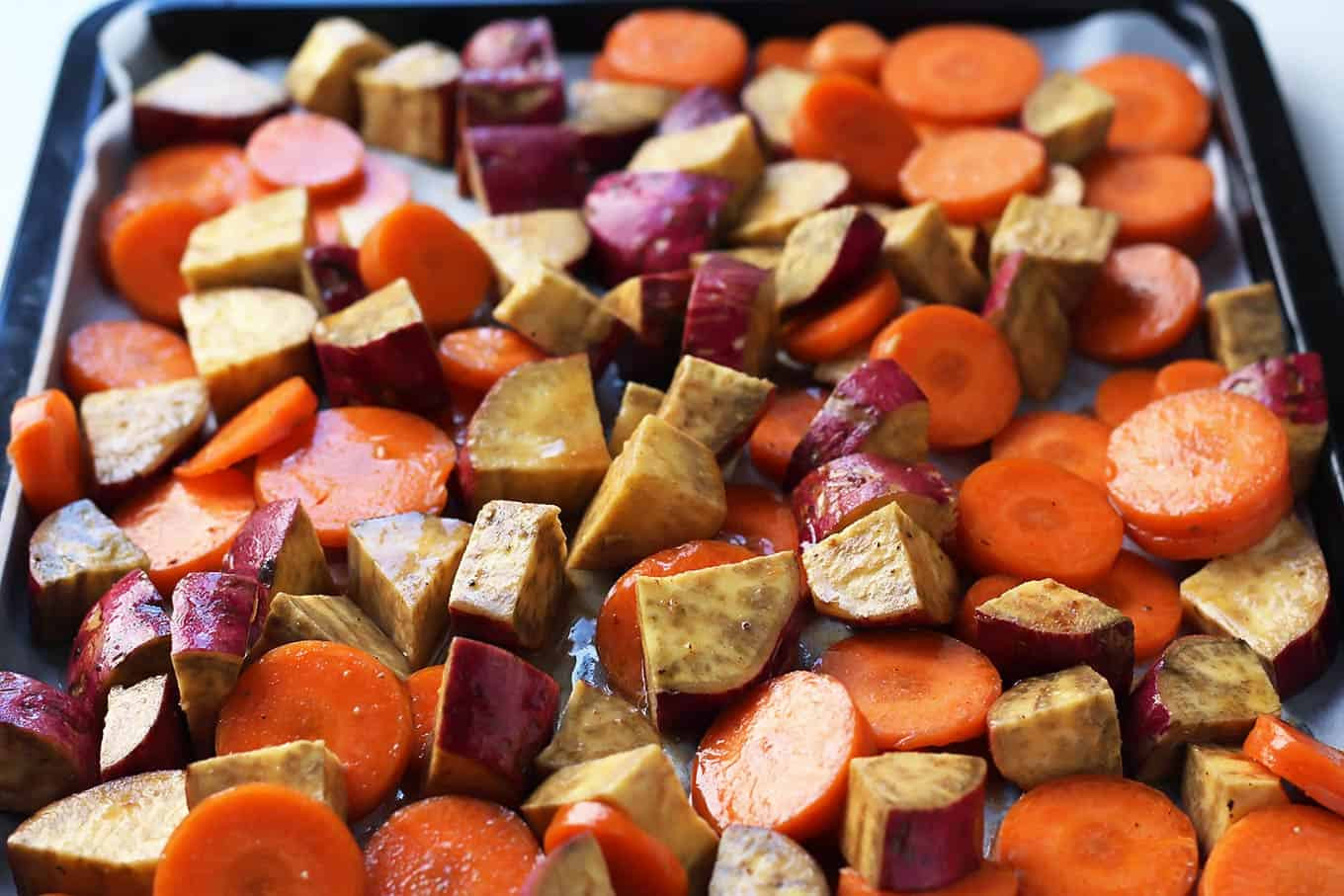 Roasted Sweet Potatoes And Carrots  roasted carrots and potatoes