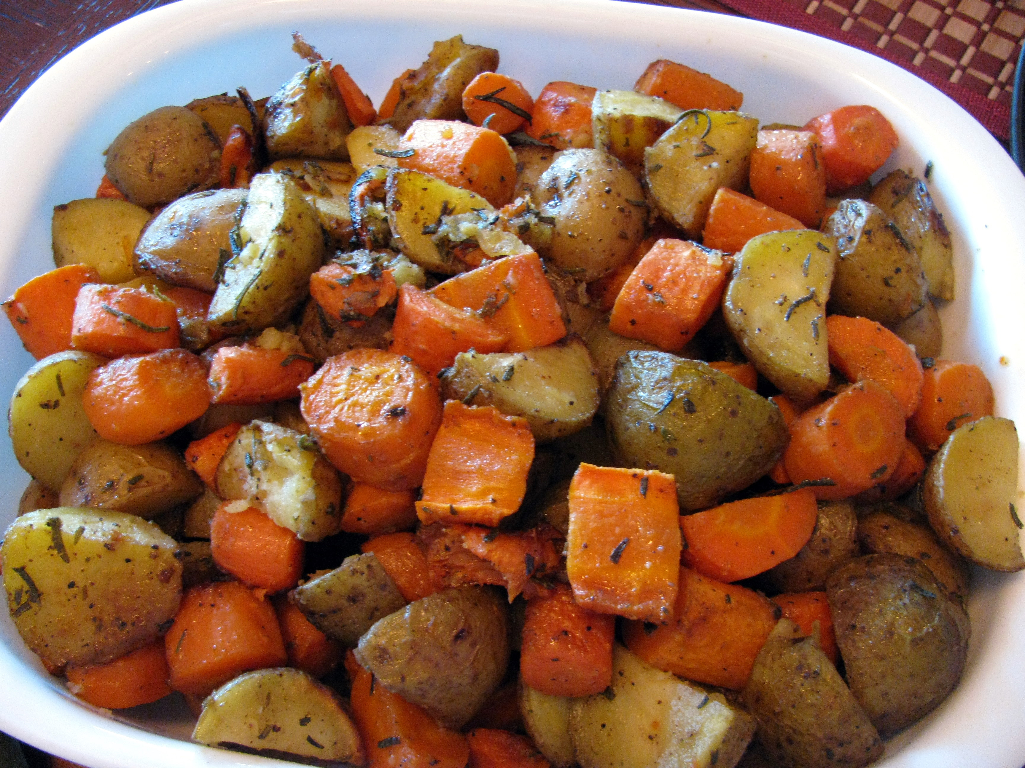 Roasted Sweet Potatoes And Carrots  Roasted Rosemary Potatoes and Carrots