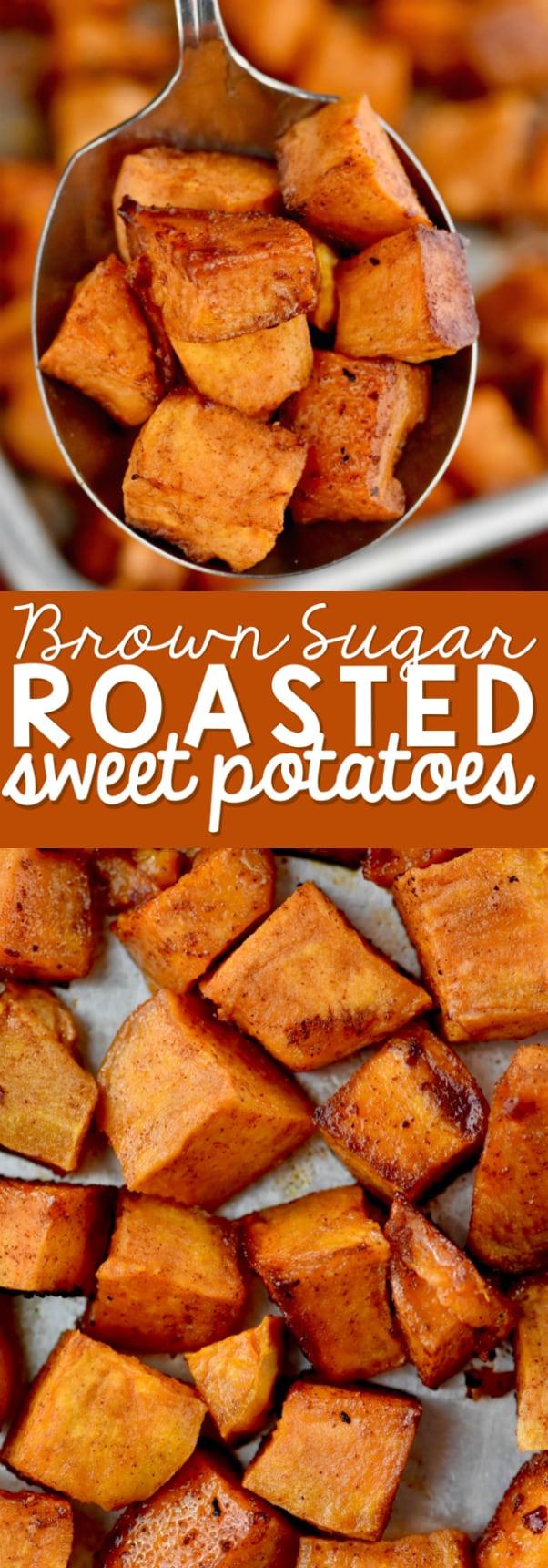 Roasted Sweet Potatoes Brown Sugar  Brown Sugar Roasted Sweet Potatoes