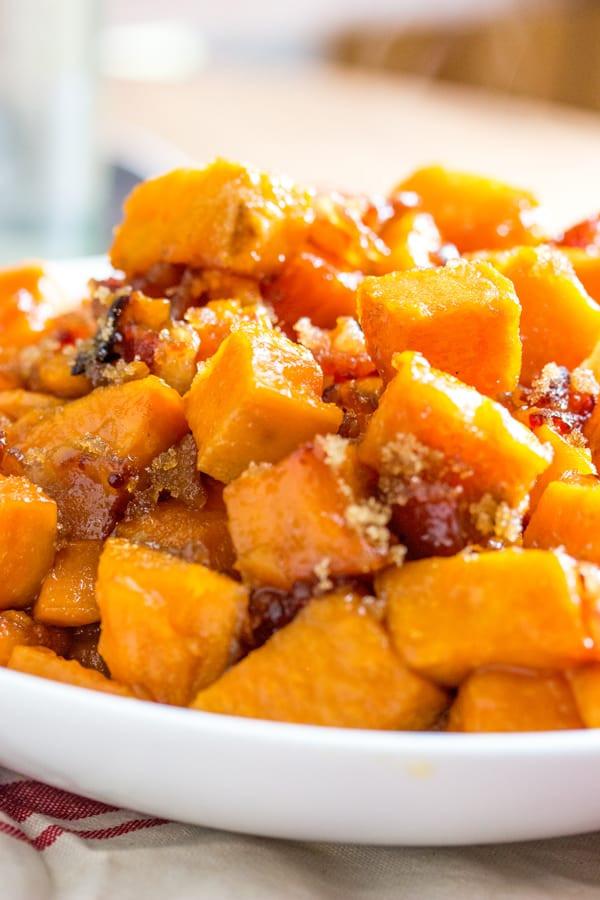 Roasted Sweet Potatoes Brown Sugar  Brown Sugar Bacon Roasted Sweet Potatoes Tornadough Alli