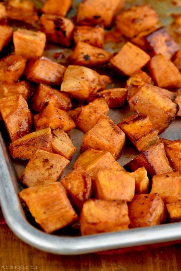 Roasted Sweet Potatoes Brown Sugar  Brown Sugar Roasted Sweet Potatoes Wine & Glue