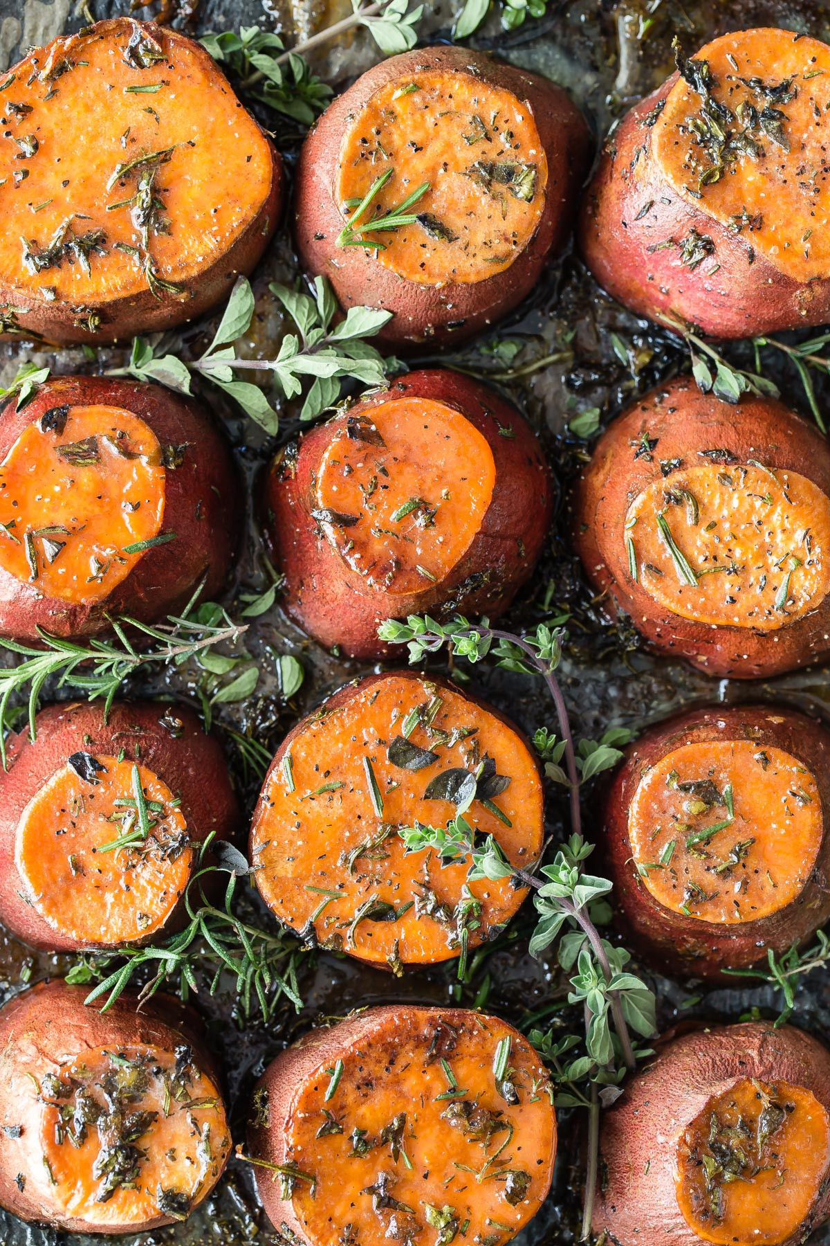 Roasted Sweet Potatoes Brown Sugar  Sweet Potatoes with Herbs and Caramelized Butter