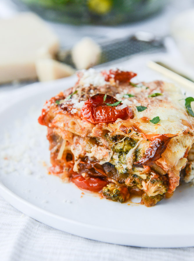Roasted Vegetable Lasagna  Roasted Ve able Lasagna with Burrata