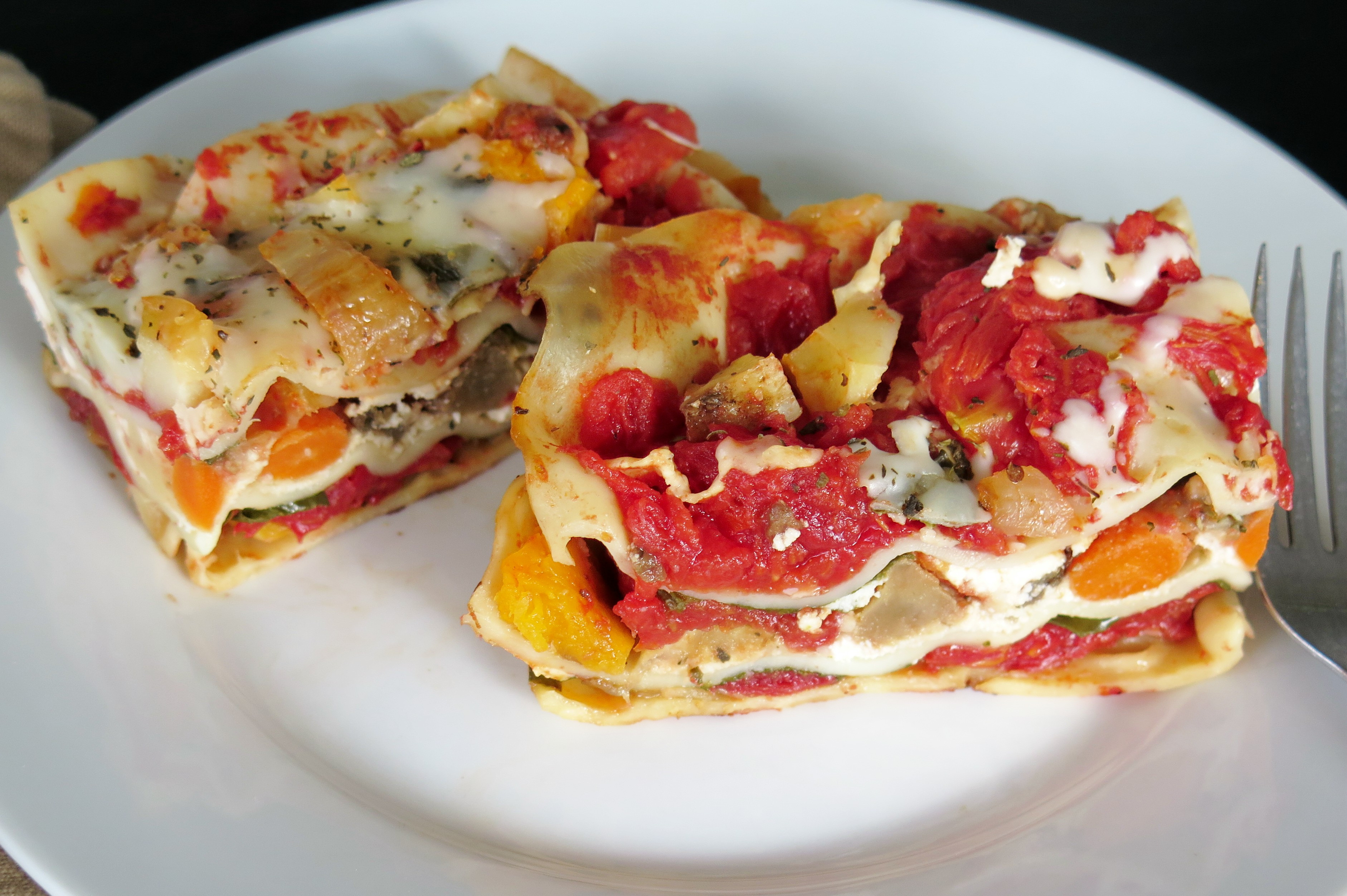 Roasted Vegetable Lasagna  Roasted Ve able Lasagna RecipeRedux Cindy s Recipes