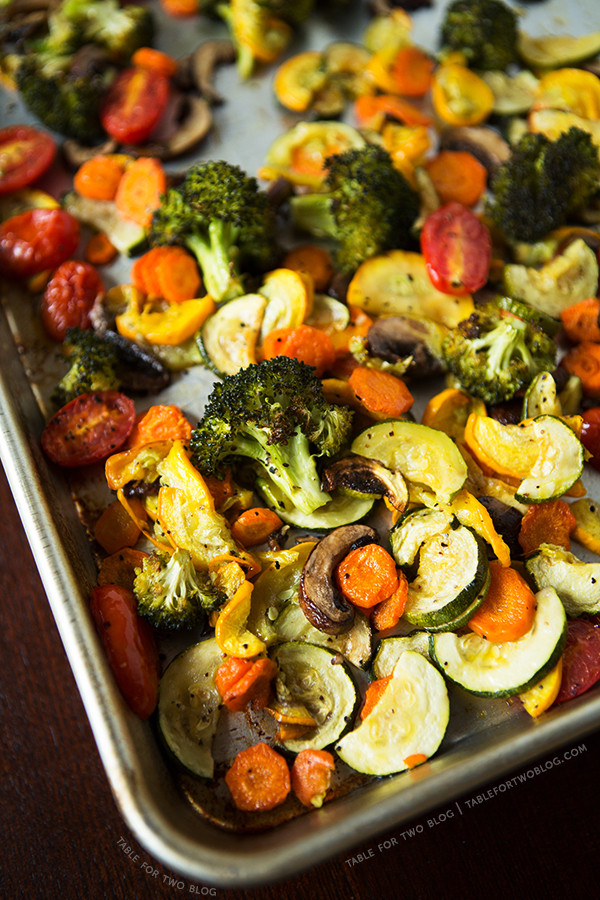 Roasted Vegetables In Oven  Roasted Ve ables Table for Two