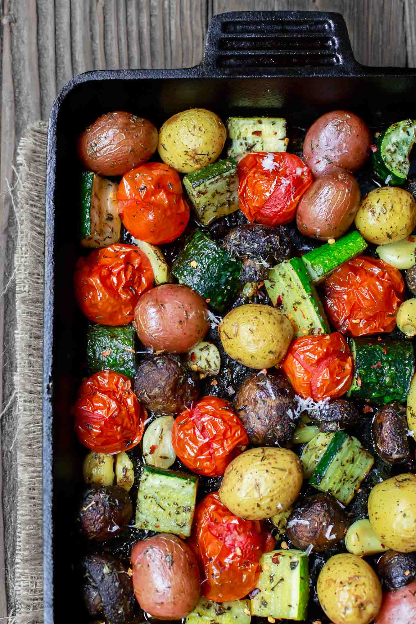Roasted Vegetables In Oven  BEST Italian Oven Roasted Ve ables