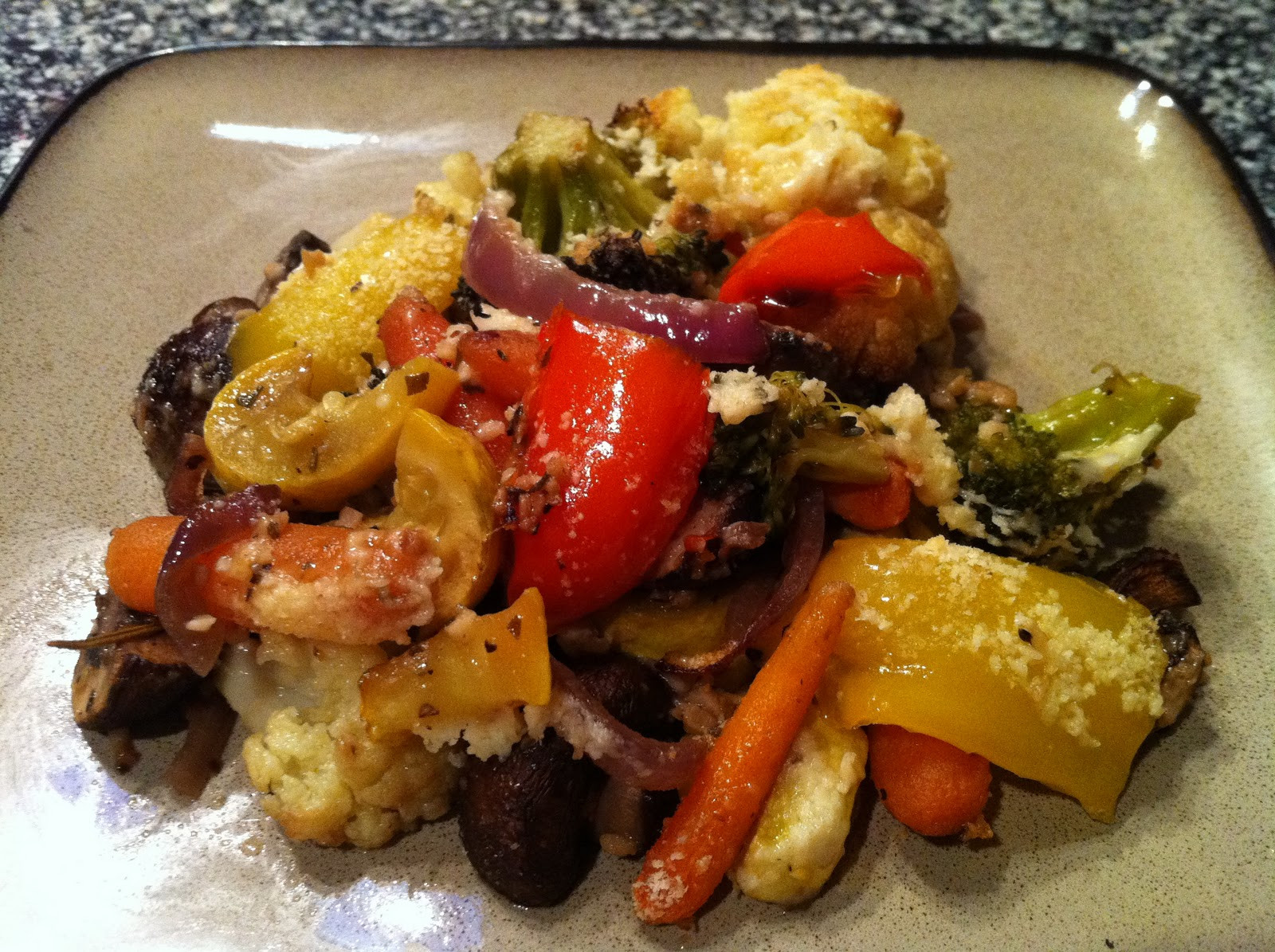 Roasted Vegetables Oven  Garlic Rosemary Oven Roasted Ve ables with Parmesan