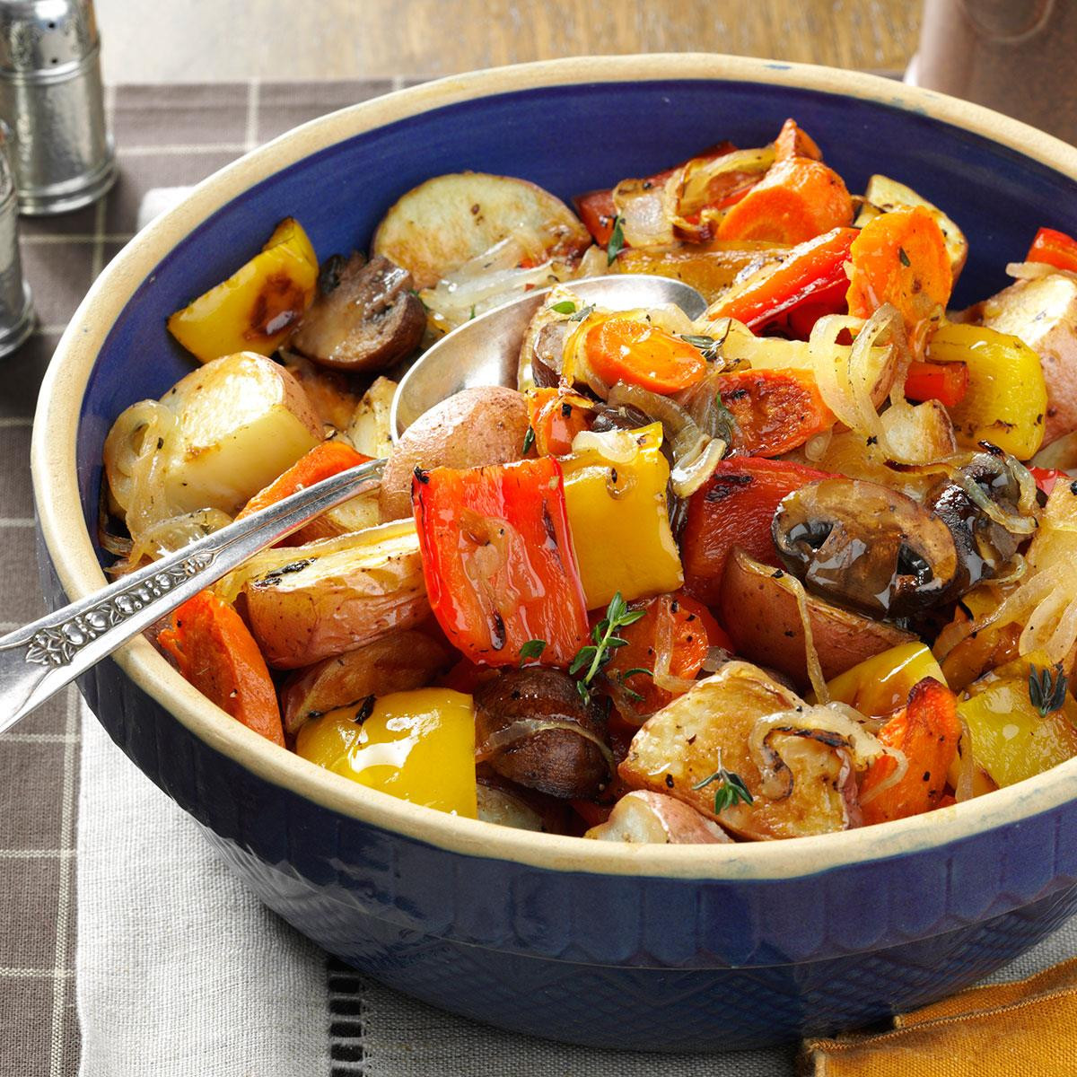 Roasted Vegetables Recipes  Thyme Roasted Ve ables Recipe