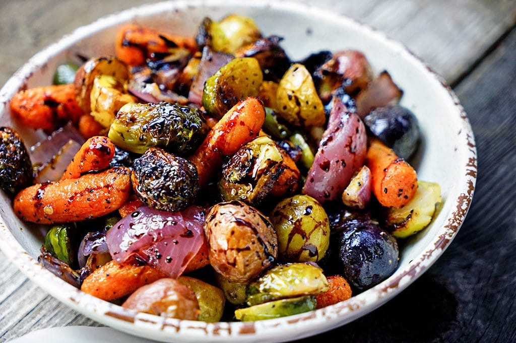 Roasted Vegetables Recipes  Easy Roasted Ve ables with Honey and Balsamic Syrup