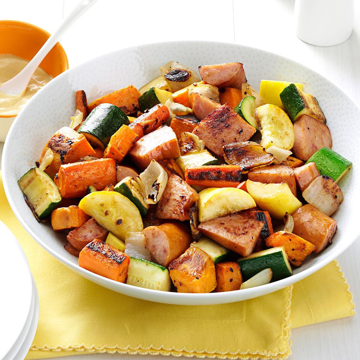 Roasted Vegetables Recipes  Roasted Kielbasa & Ve ables Recipe