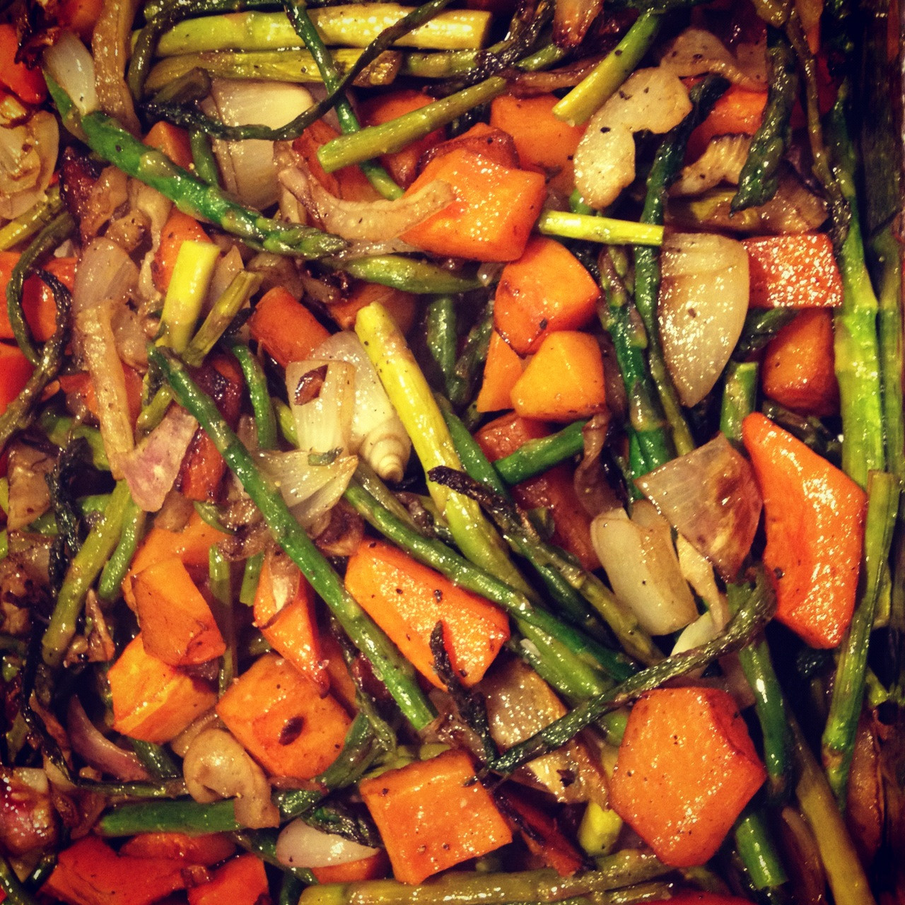 Roasted Vegetables Recipes  Happy New Year My New Years' Resolutions & Roasted