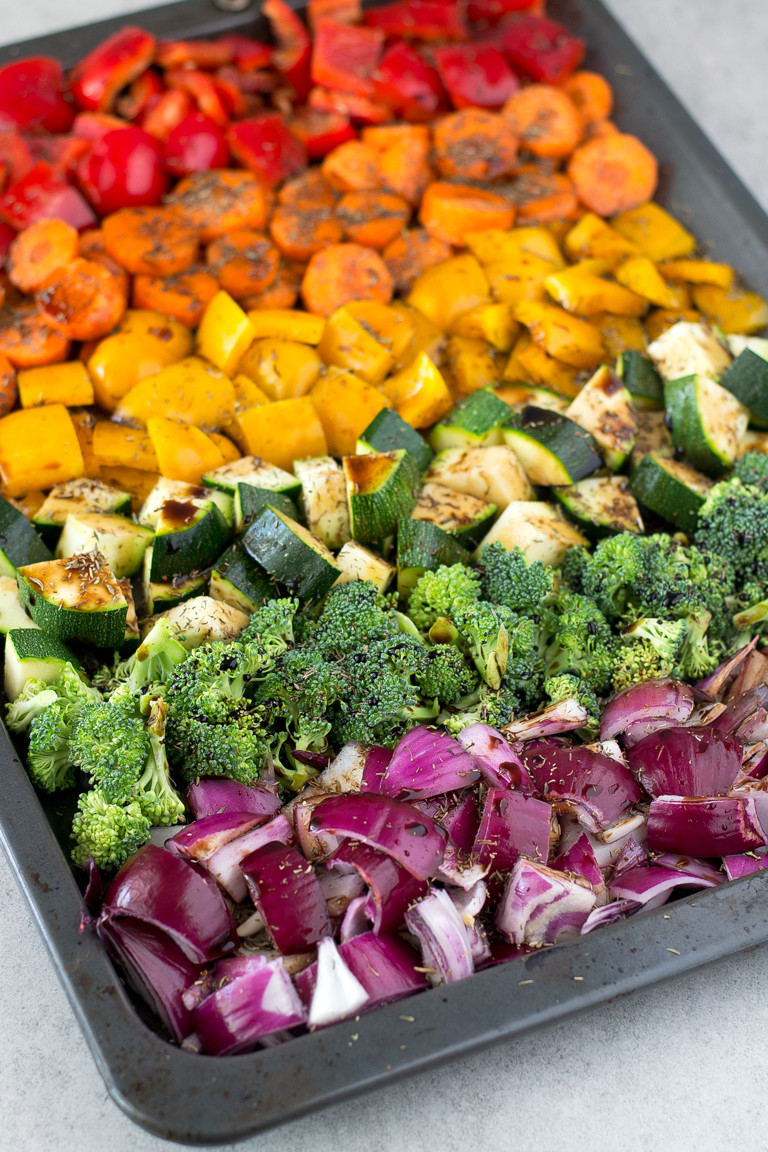 Roasted Vegetables Recipes  Oil Free Rainbow Roasted Ve ables Simple Vegan Blog