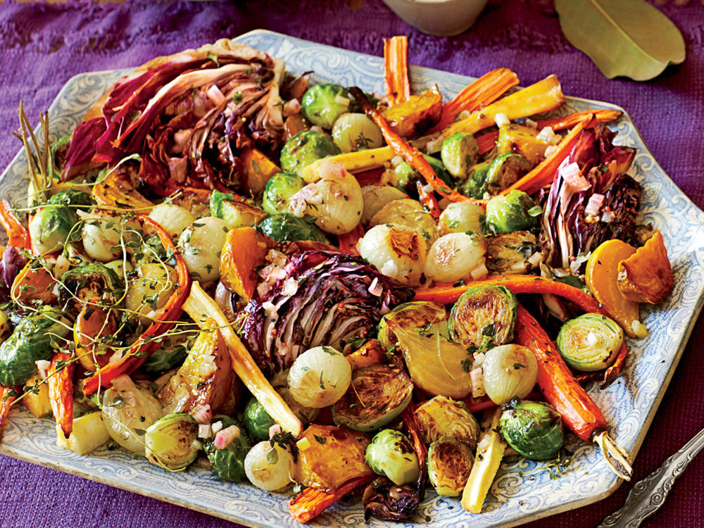 Roasted Vegetables Recipes  Roasted Ve able Salad & Apple Cider Vinaigrette Recipe