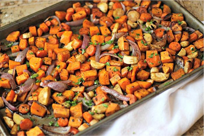 Roasted Vegetables With Balsamic Vinegar  Roast Ve ables With Balsamic Vinegar
