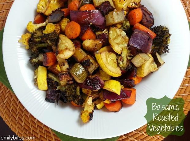 Roasted Vegetables With Balsamic Vinegar  Balsamic Roasted Ve ables Emily Bites