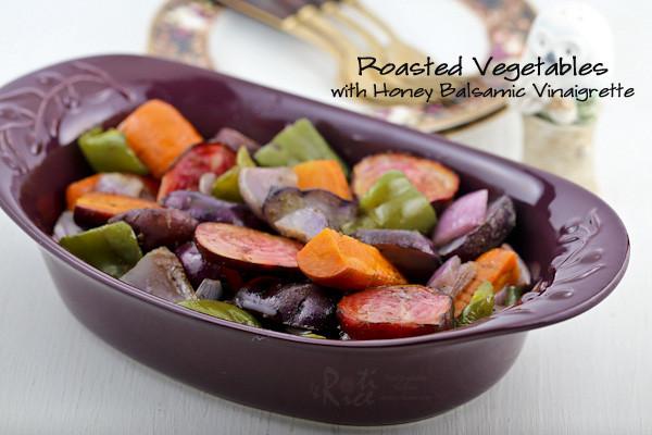 Roasted Vegetables With Balsamic Vinegar  Roasted Ve ables with Honey Balsamic Vinaigrette