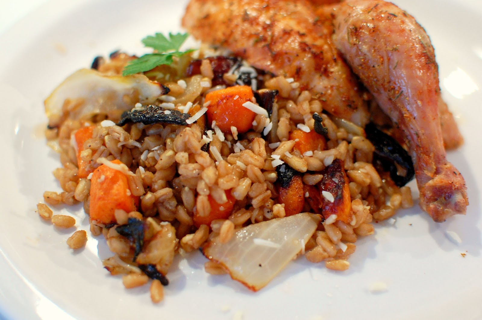 Roasted Vegetables With Balsamic Vinegar  Reckless Abandon Farro with Roasted Ve ables and
