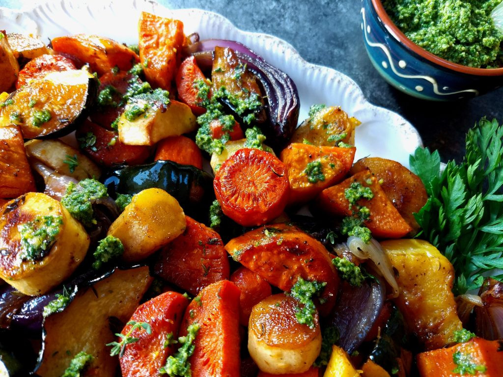 Roasted Vegetables With Balsamic Vinegar  Balsamic Roasted Root Ve ables Give it Some Thyme