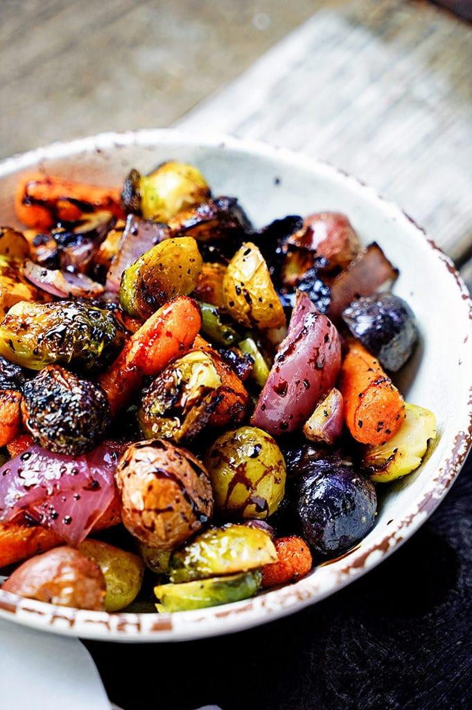 Roasted Vegetables With Balsamic Vinegar  Easy Roasted Ve ables with Honey and Balsamic Syrup