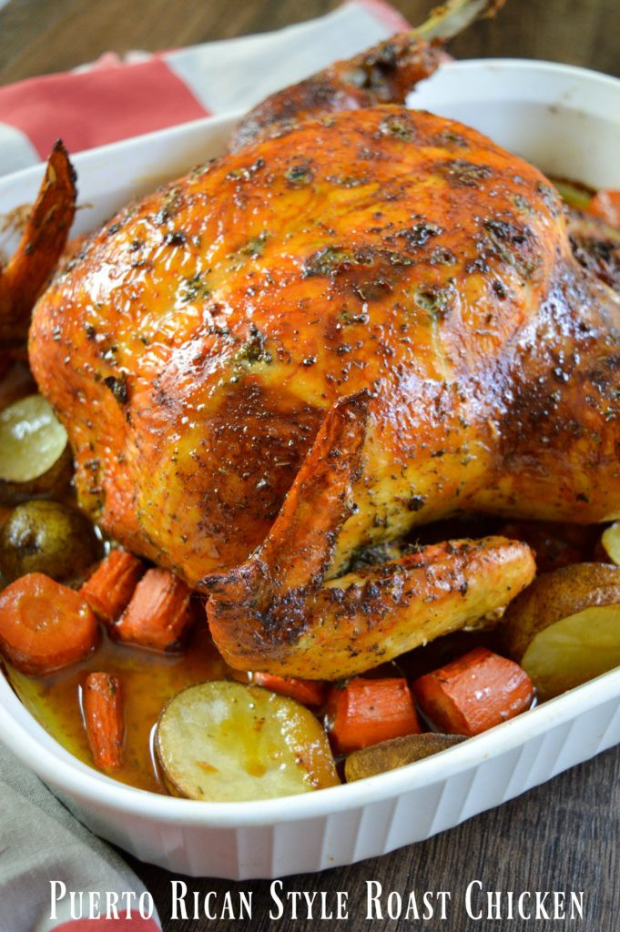 Roasted Whole Chicken Recipe  Puerto Rican Style Whole Roasted Chicken Recipe