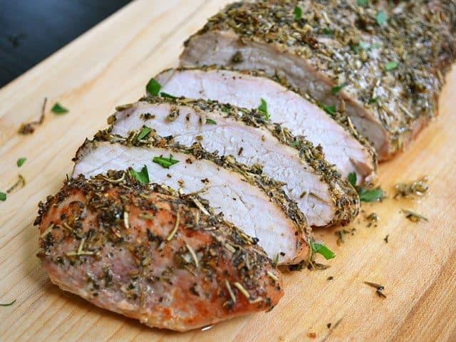 Roasting Pork Tenderloin  Herb Roasted Pork Loin Bud Bytes