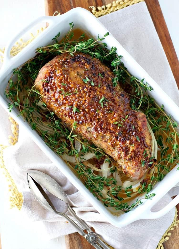 Roasting Pork Tenderloin  Honey Dijon Roasted Pork Tenderloin The Seasoned Mom
