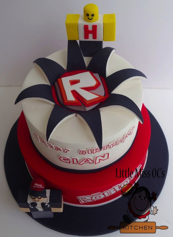 Roblox Birthday Cake  roblox cake little miss oc s kitchen cakes