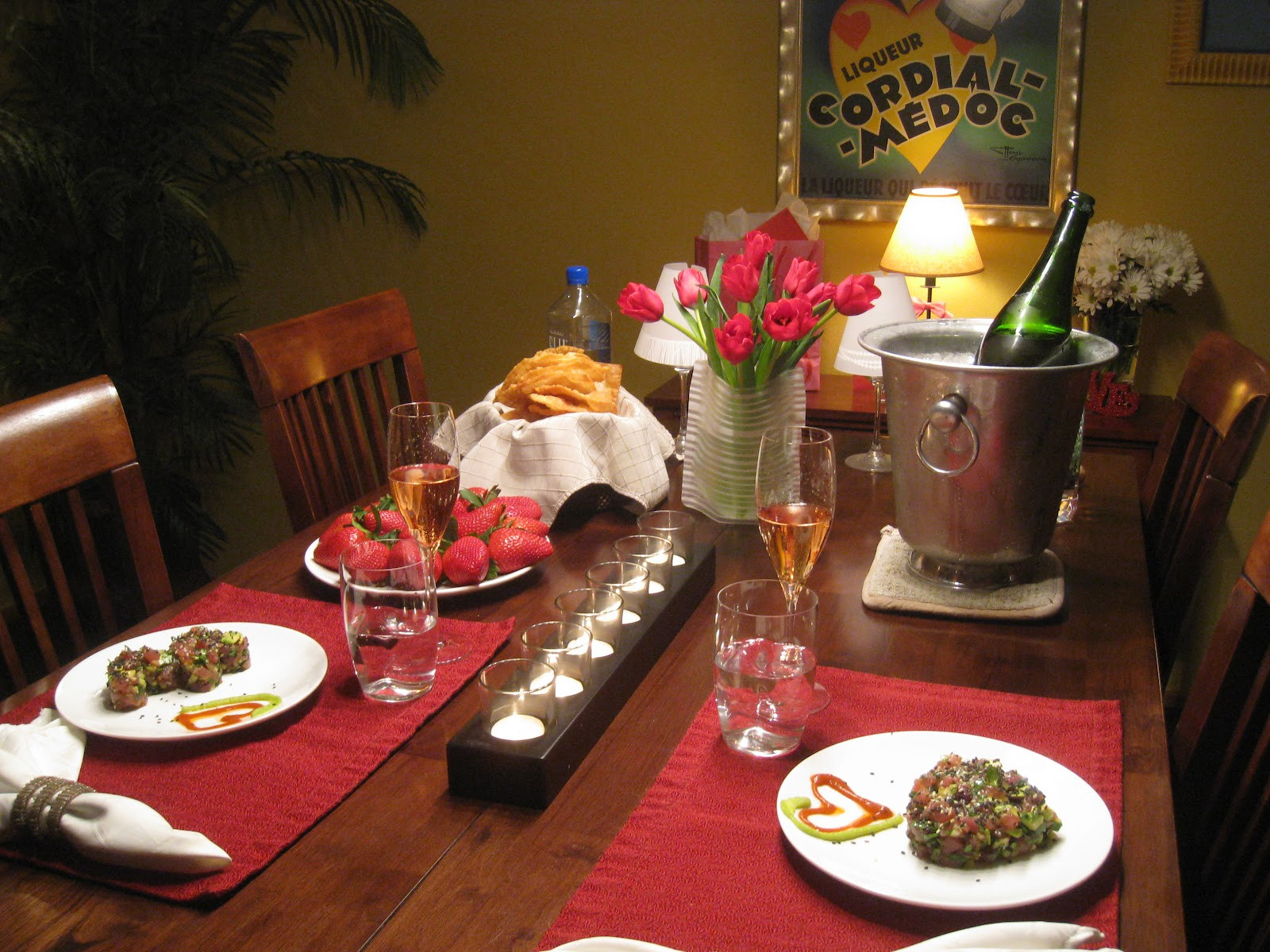 Romantic Dinner For Two At Home  Penelope The Foo Romantic Dinner for Two Tuna Tartare