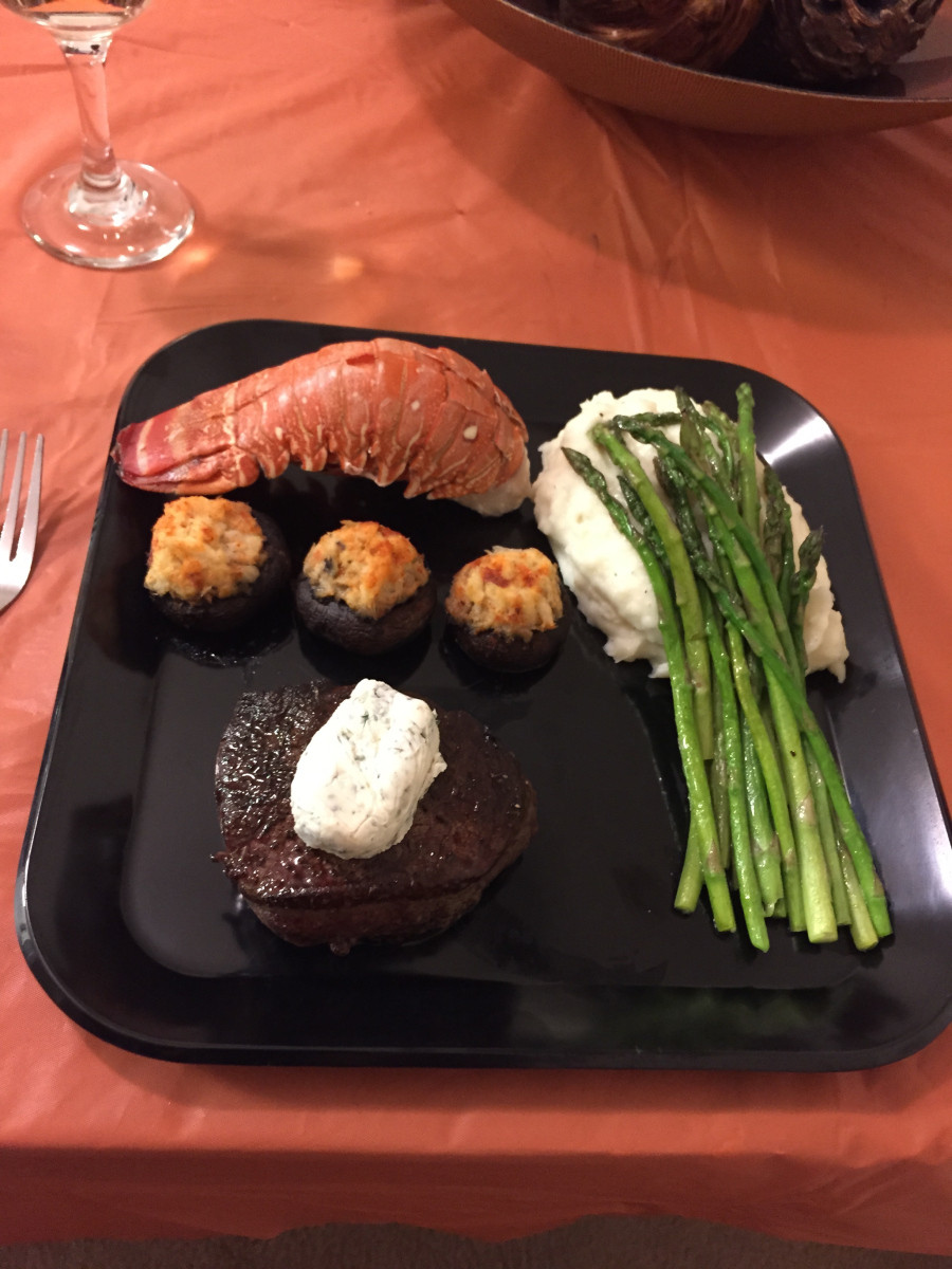 Romantic Dinners Recipes For Two  Surf and Turf romantic dinner for two