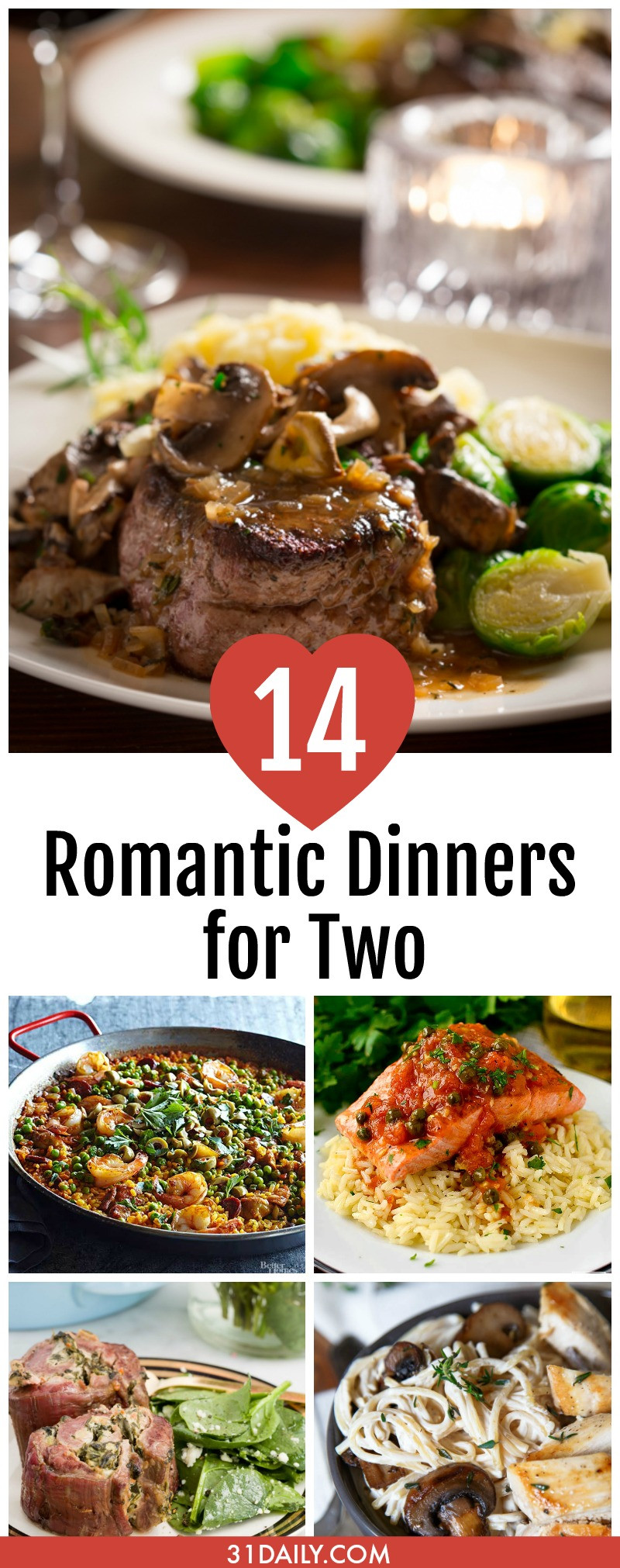 Romantic Dinners Recipes For Two  14 Romantic Dinner Recipes for Two 31 Daily