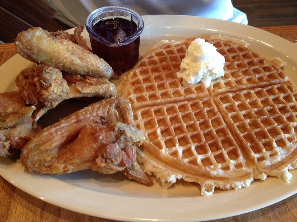 Roscoe'S Chicken And Waffles Anaheim  Obama Special 3 chicken wings & 1 waffle added an