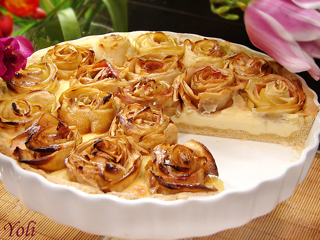 Rose Apple Pie  Вкусно с Йоли Ябълков пай на рози