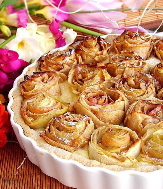 Rose Apple Pie  Easy apple desserts How to make apple roses for a pie