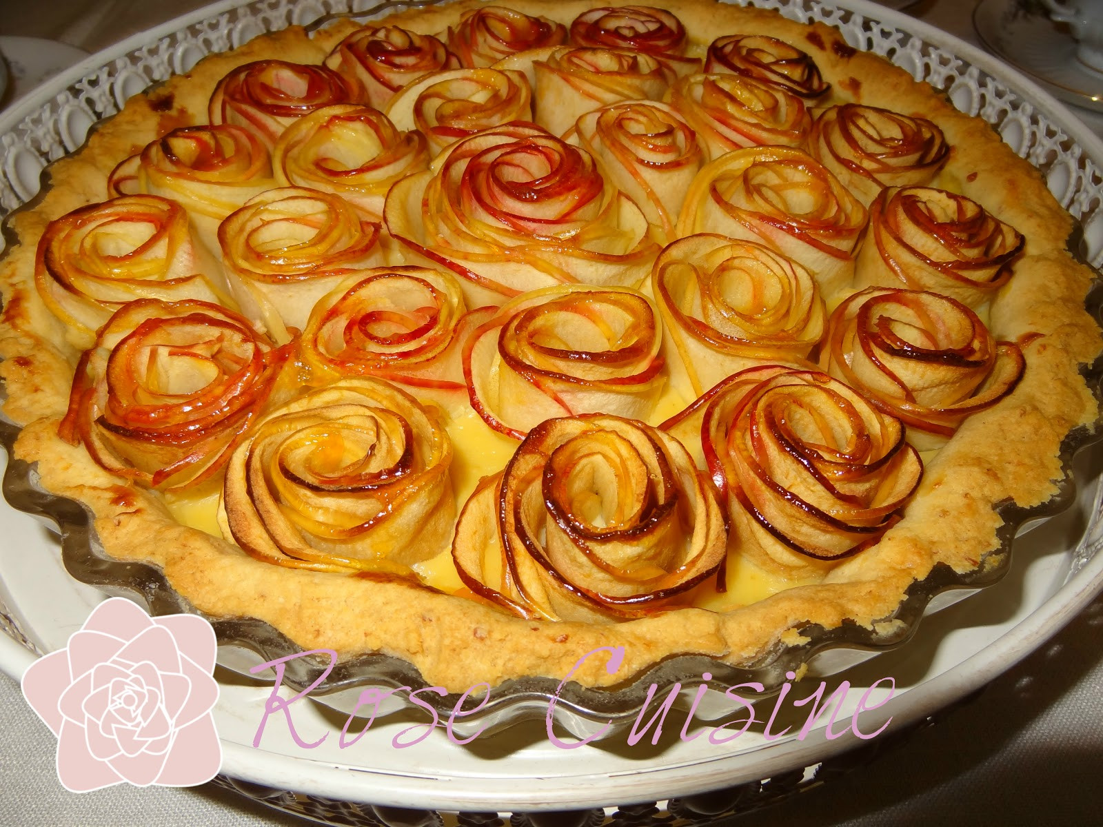 Rose Apple Pie  Rose Cuisine Rose Apple Pie