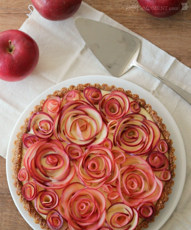 Rose Apple Pie  Scrumptious Gluten Free Apple Walnut Tart with Maple