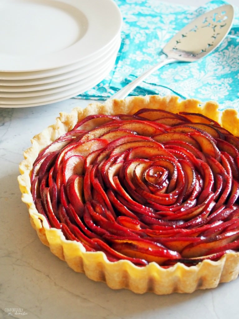 Rose Apple Pie  Rose Apple Pie Tutorial fortably Domestic